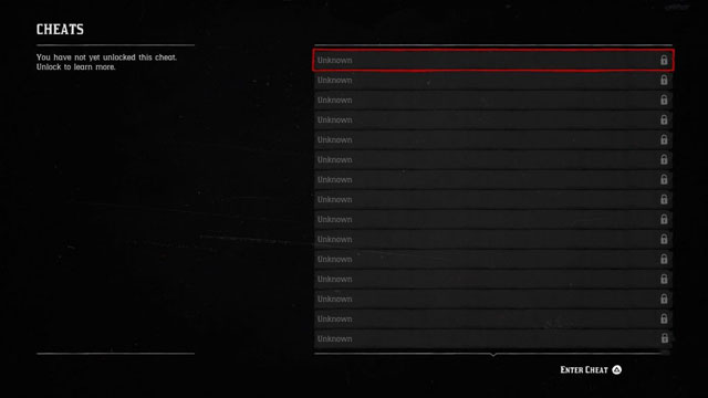 Red Dead Redemption 2 Cheats menu