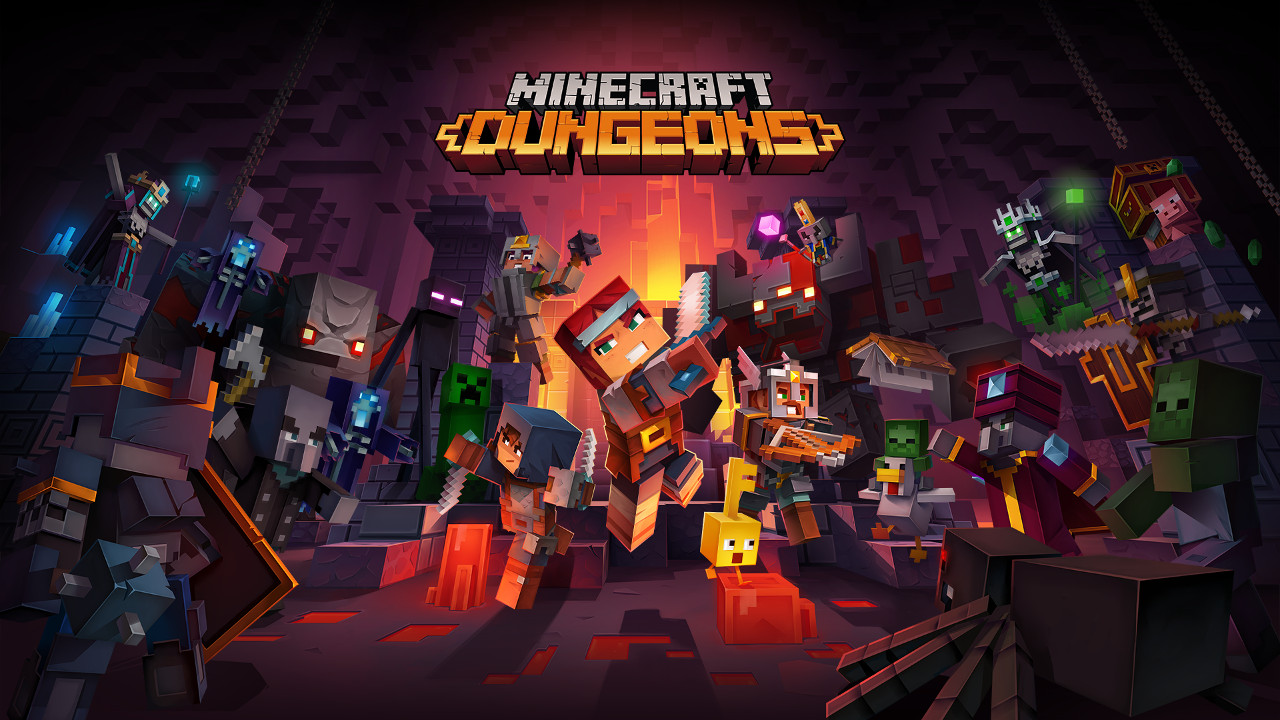 Minecraft Dungeons poster